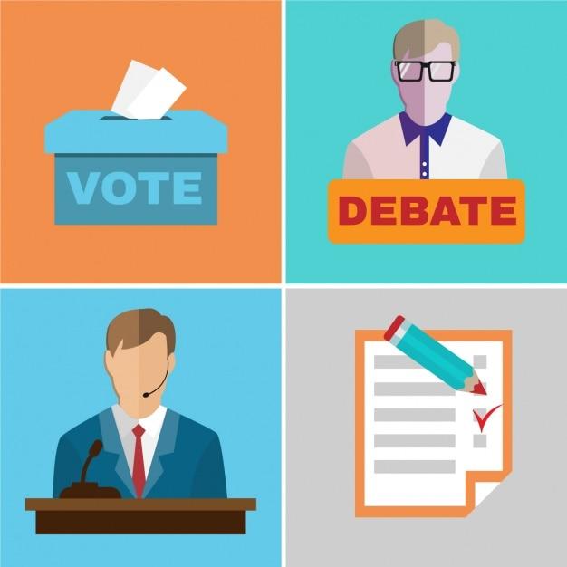 Wahlentwürfe kollektion Kostenlosen Vektoren