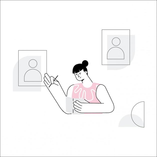 Wahltag-vektor-illustration Premium Vektoren