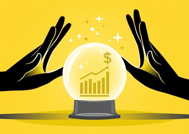 Wahrsagerin und grafik Premium Vektoren