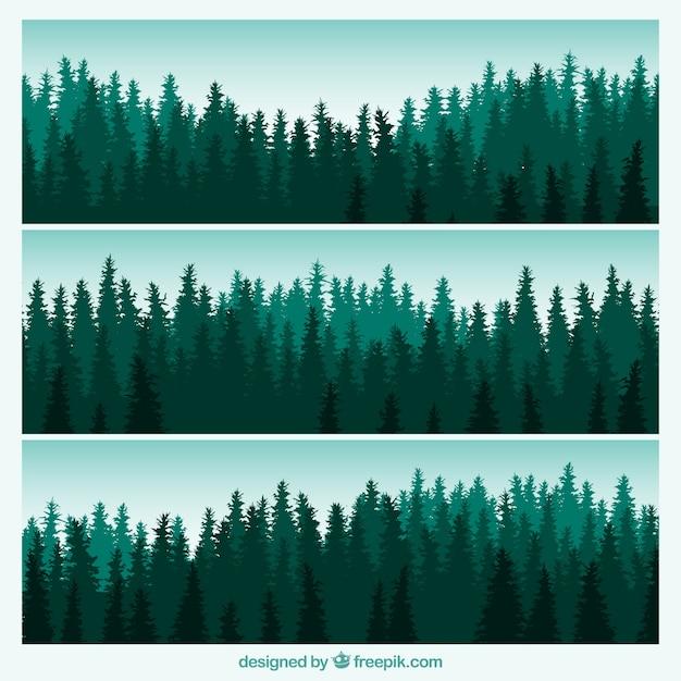 Wald banner Kostenlosen Vektoren