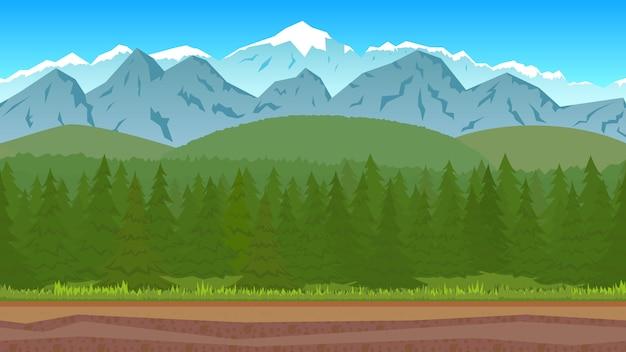 Waldlandschaft Premium Vektoren