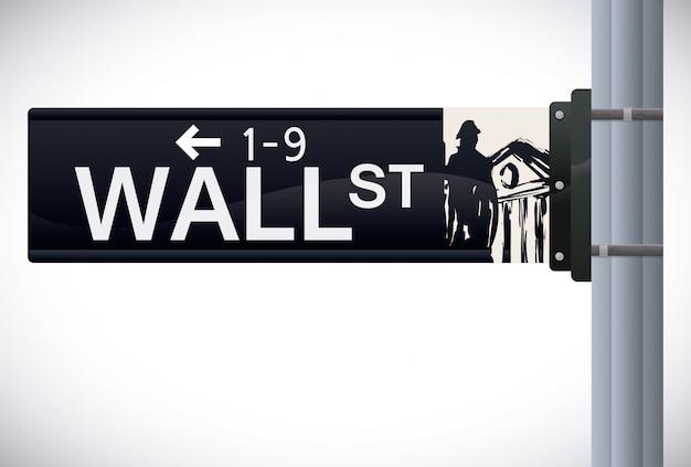 Wall street design, vektor-illustration. Premium Vektoren