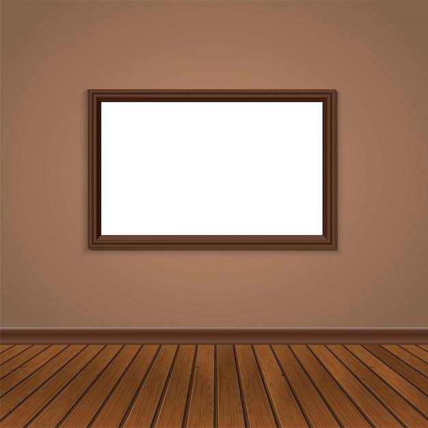 Wandfenster und holzboden Premium Vektoren