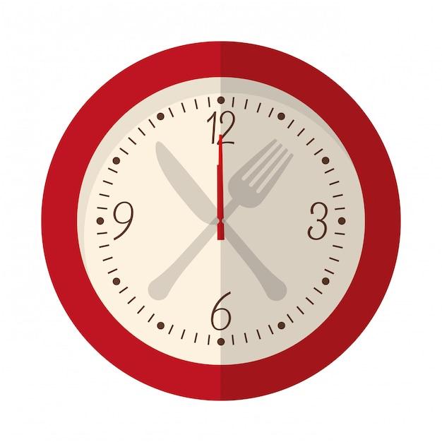 Wanduhr-symbolbild Premium Vektoren