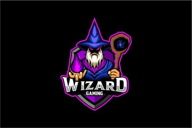 Warlock-gaming-logo Premium Vektoren