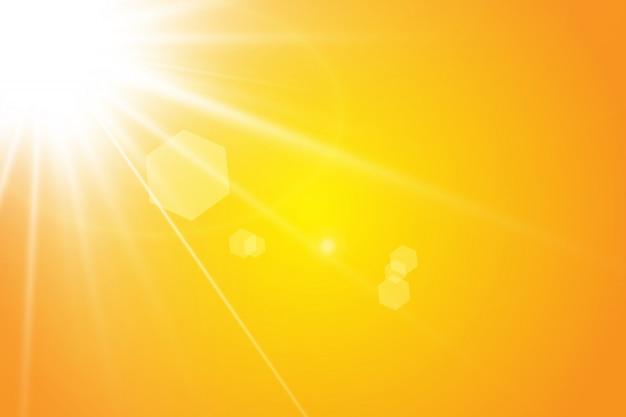 Warme sonnenstrahlen. Premium Vektoren