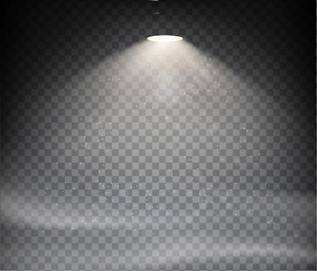 Warmes licht auf einem transparenten hintergrund eingestellt Premium Vektoren