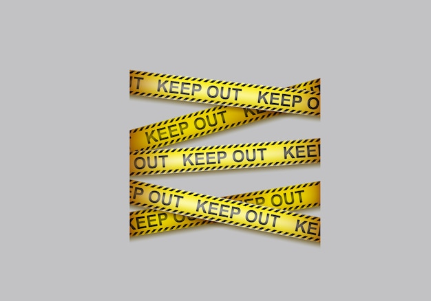 Warnband, warnbänder kreuzen Kostenlosen Vektoren