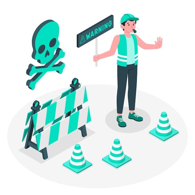 Warnung konzeptillustration Kostenlosen Vektoren