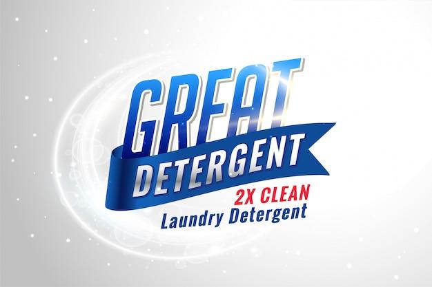 Waschmittelverpackung für saubere textilien Kostenlosen Vektoren