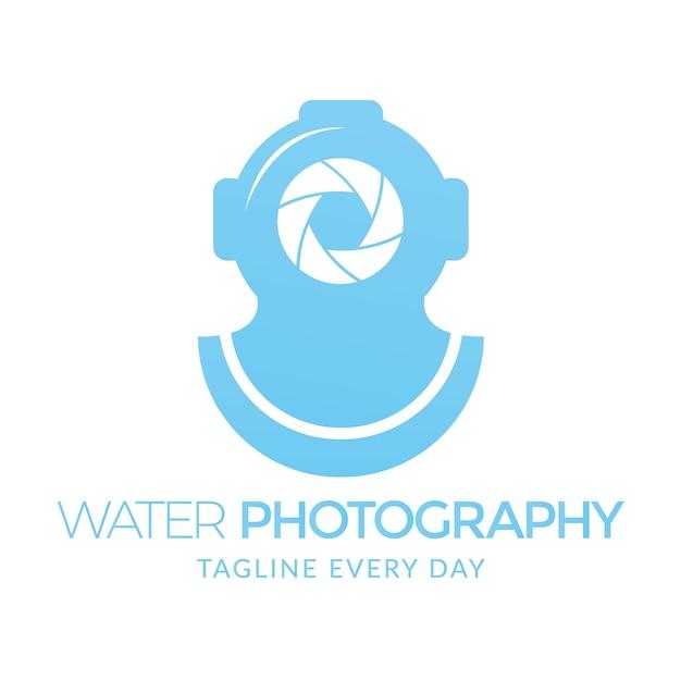 Wasser fotografie logo vorlage Premium Vektoren