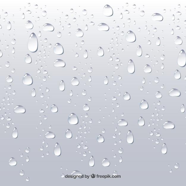 Wasser lässt hintergrund in der realistischen art fallen Kostenlosen Vektoren