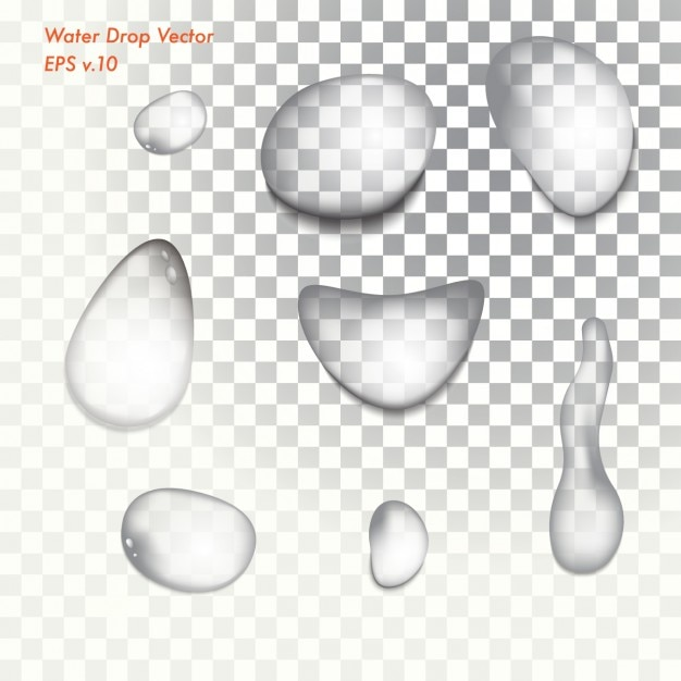 Wasser-tropfen-sammlung Kostenlosen Vektoren