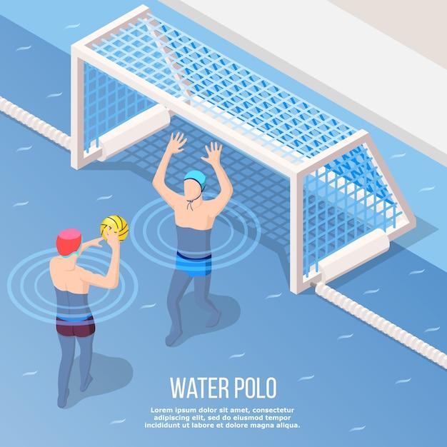 Wasserball isometrischen stil Kostenlosen Vektoren