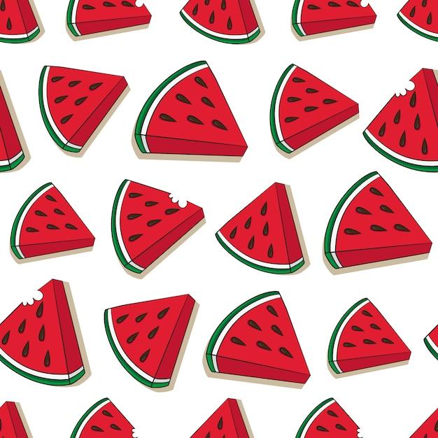 Wassermelone muster design Kostenlosen Vektoren