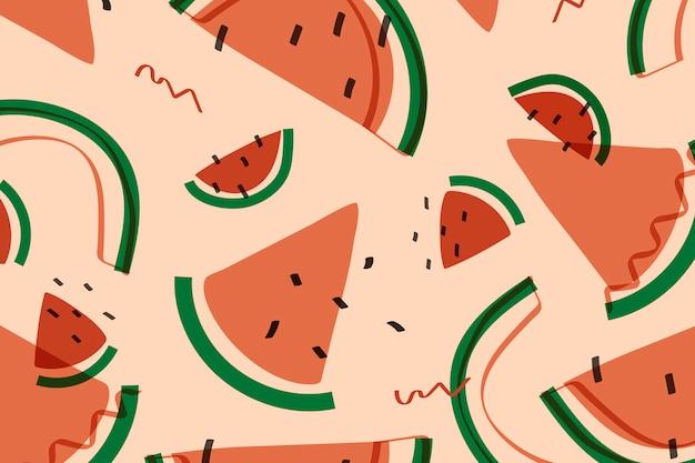 Wassermelonenfrucht memphis-art Kostenlosen Vektoren