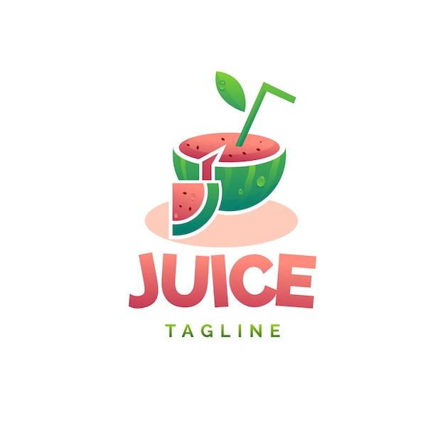 Wassermelonensaft-logo Premium Vektoren