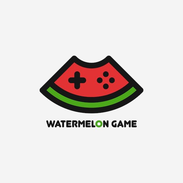 Wassermelonenspiel-logo-vorlage Premium Vektoren