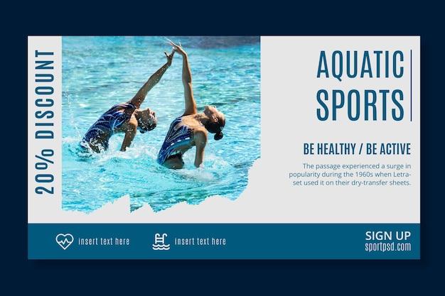 Wassersport banner vorlage Kostenlosen Vektoren