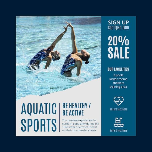 Wassersport flyer vorlage Premium Vektoren