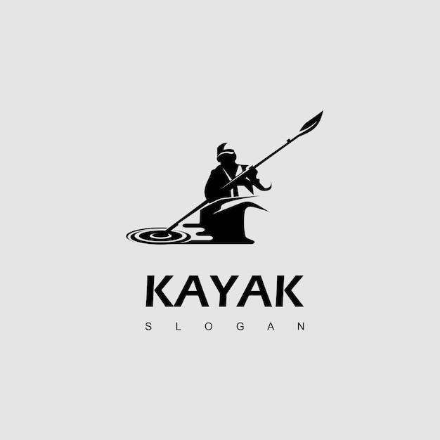 Wassersport, kayak logo design inspiration Premium Vektoren
