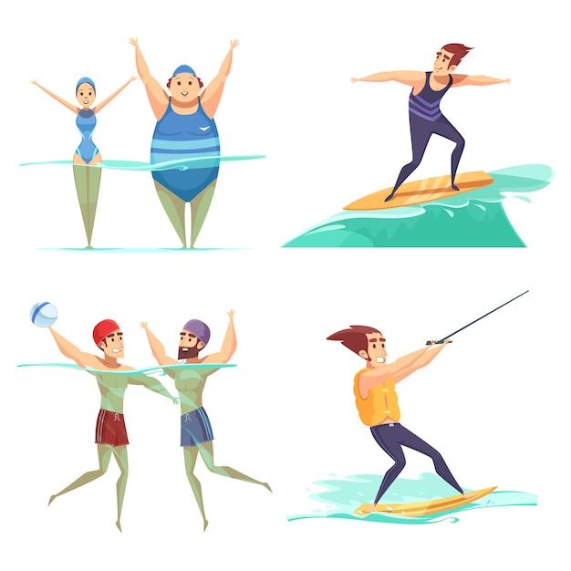 Wassersport-konzept Kostenlosen Vektoren