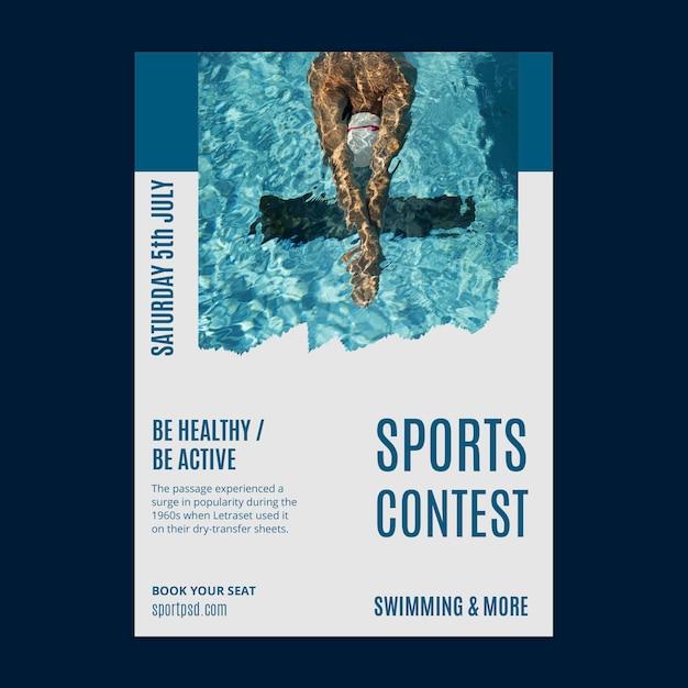 Wassersportplakatschablone Kostenlosen Vektoren