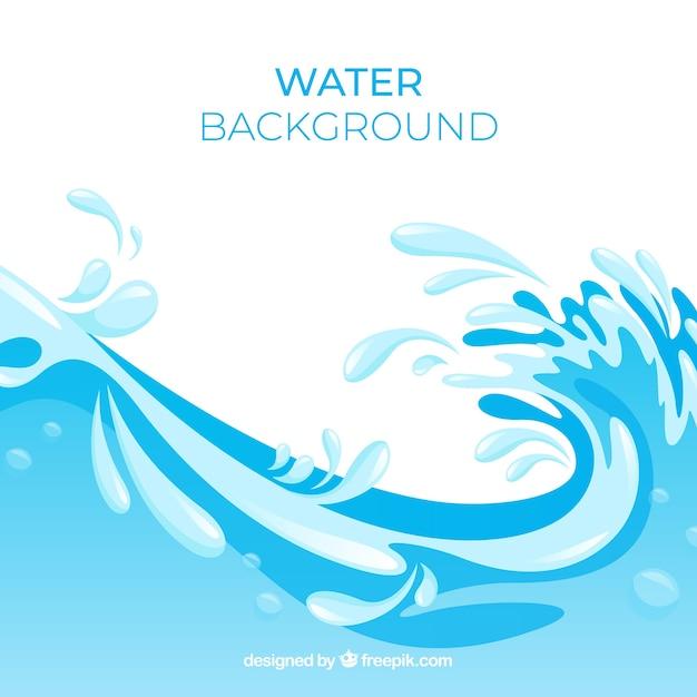 Wasserspritzenhintergrund in der flachen art Kostenlosen Vektoren