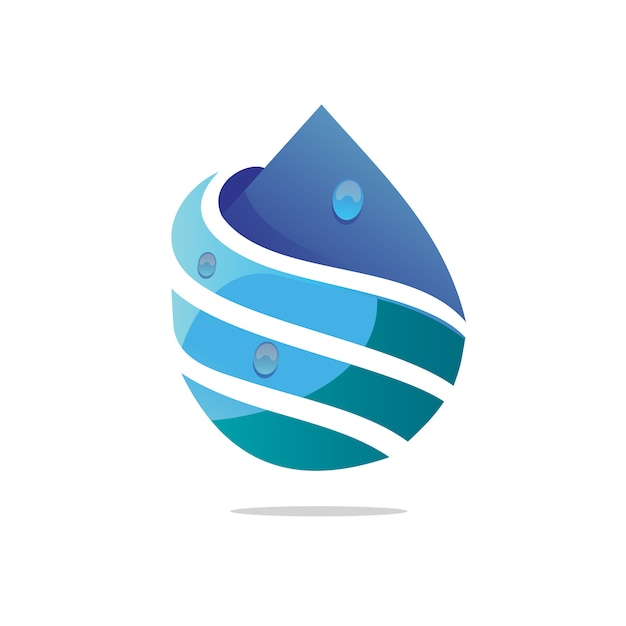 Wassertropfen-logo Premium Vektoren