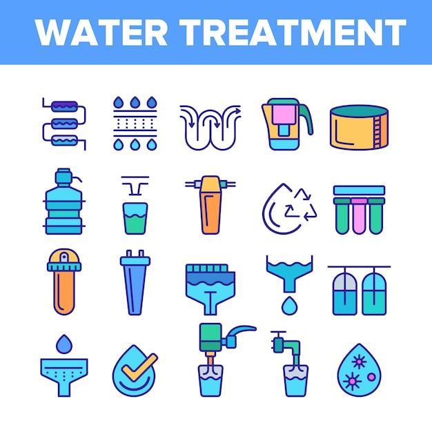 Wasserversorgung Premium Vektoren