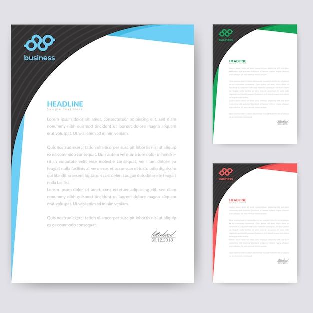 Wave briefkopf design Premium Vektoren