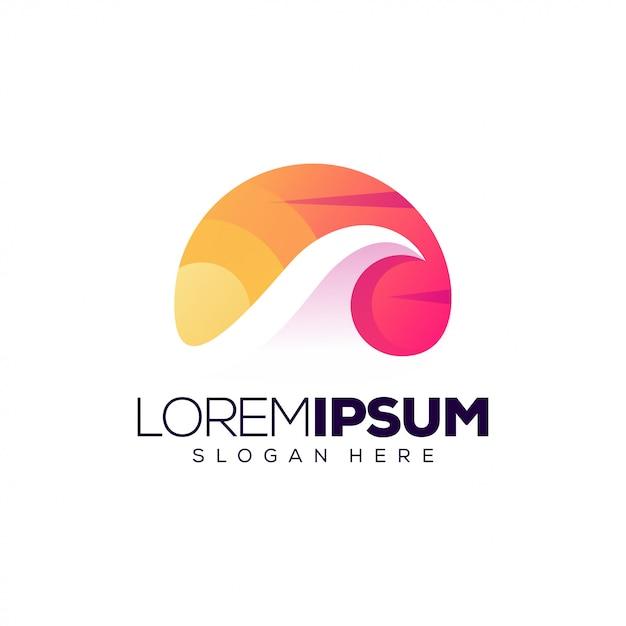 Wave-logo-vorlage Premium Vektoren