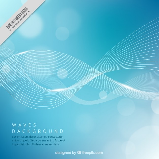 Waves blau bokeh hintergrund Kostenlosen Vektoren