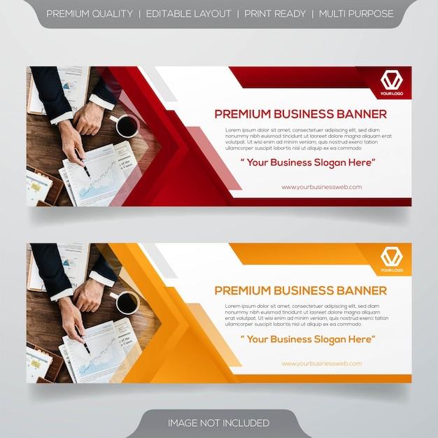 Web-banner-vorlage Premium Vektoren