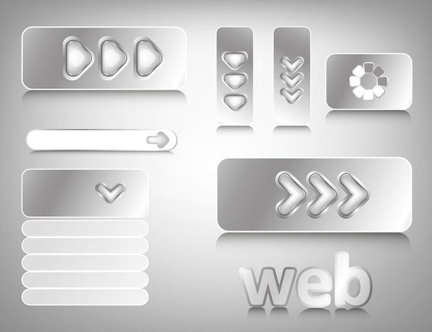 Web-design-elemente Premium Vektoren