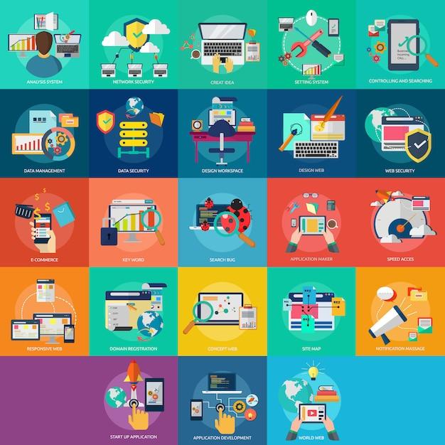 Web-designs kollektion Kostenlosen Vektoren