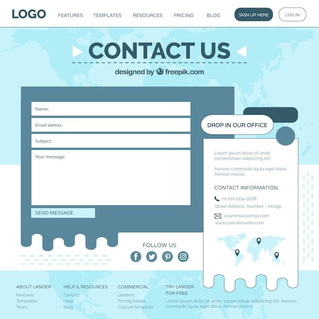 Web-Formular-Vorlage | Download der kostenlosen Vektor
