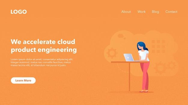 Web-header-banner für die systemwebsite Premium Vektoren