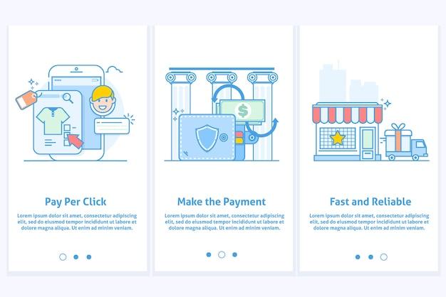 Web Icons für E-Commerce und Internet Banking. Vorlage für mobile ...
