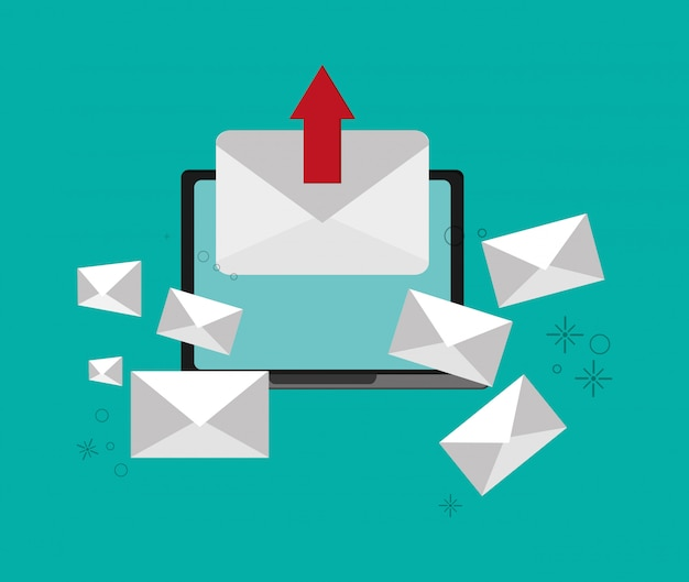 Web-messaging über computerbild Premium Vektoren