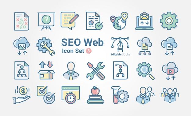 Web-seo-icon-sammlung Premium Vektoren