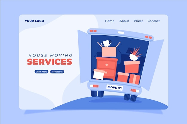 Web-vorlage für umzugsdienste Premium Vektoren