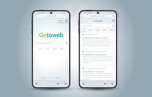 Webbrowser-oberfläche Premium Vektoren