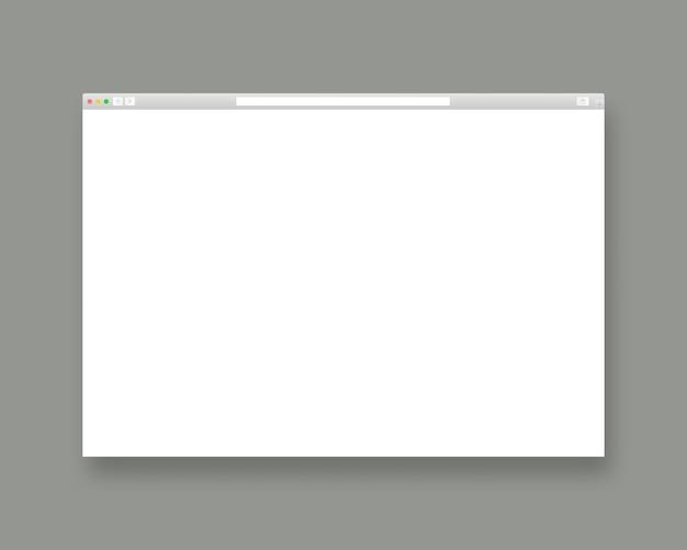 Webbrowser-vorlage. leere webseite. vorlagenentwurf. realistische illustration. Premium Vektoren