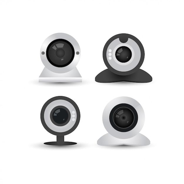Webcam-grafik-design-vorlage Premium Vektoren
