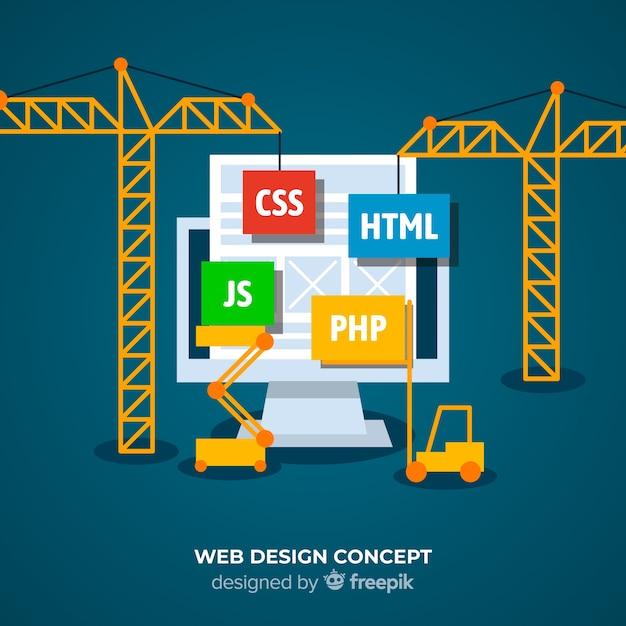 Webdesign konzept hintergrund Kostenlosen Vektoren