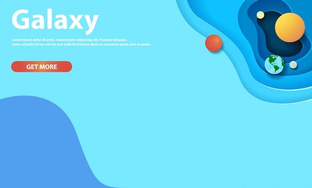Webhintergrund mit galaxiepapierschnitt Premium Vektoren