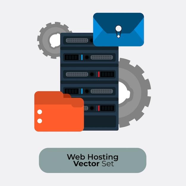 Webhosting-bild Premium Vektoren
