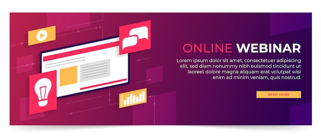 Webinar banner vorlage Kostenlosen Vektoren