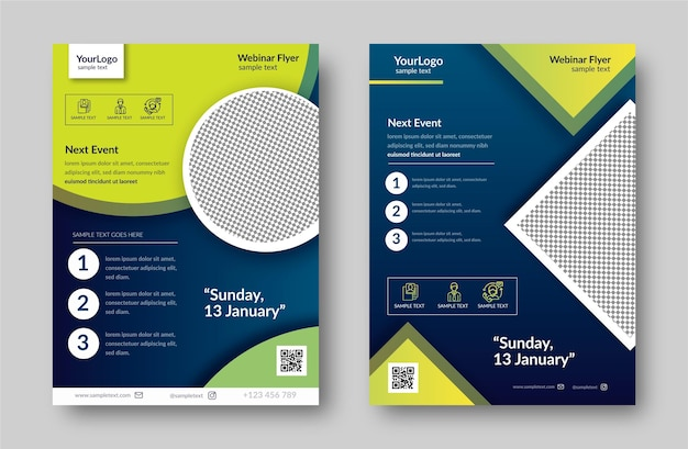 Webinar flyer template pack Kostenlosen Vektoren